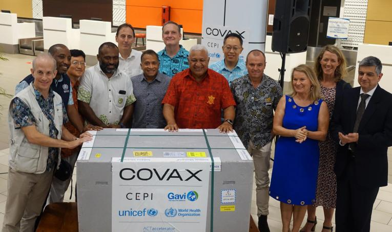 COVID-19 Vaccines shipped by COVAX arrive in Fiji