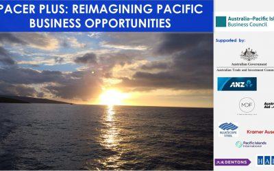 PACER Plus: Reimagining Pacific Business Opportunities Webinar, 22 Sept 2021